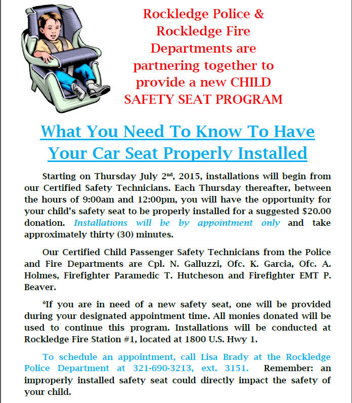 Car Seat Installation Flyer
