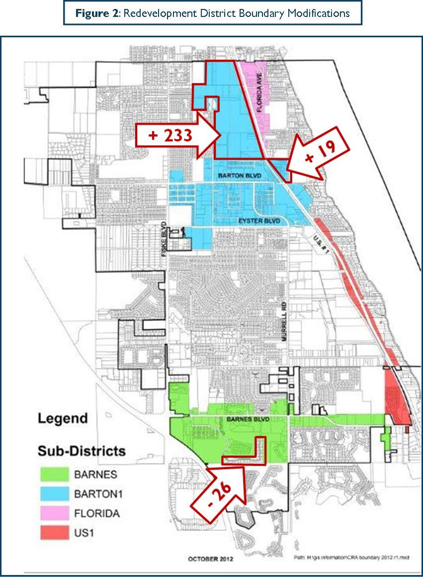 Redevelopment District Boundary Modifications