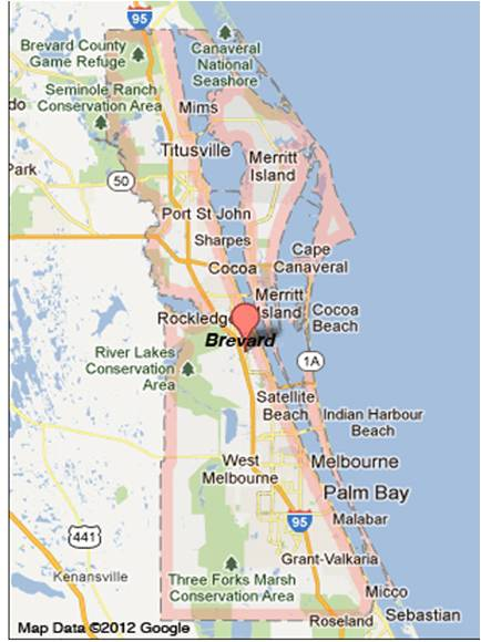 Rockledge location map